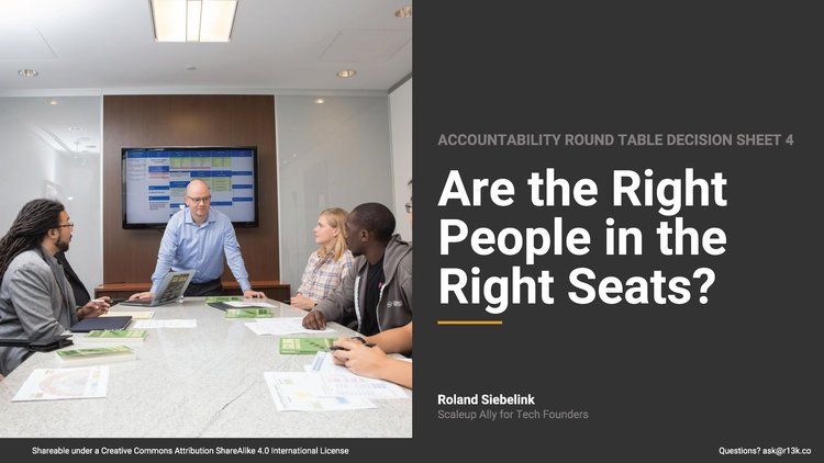 Are the Right People in the Right Seats?