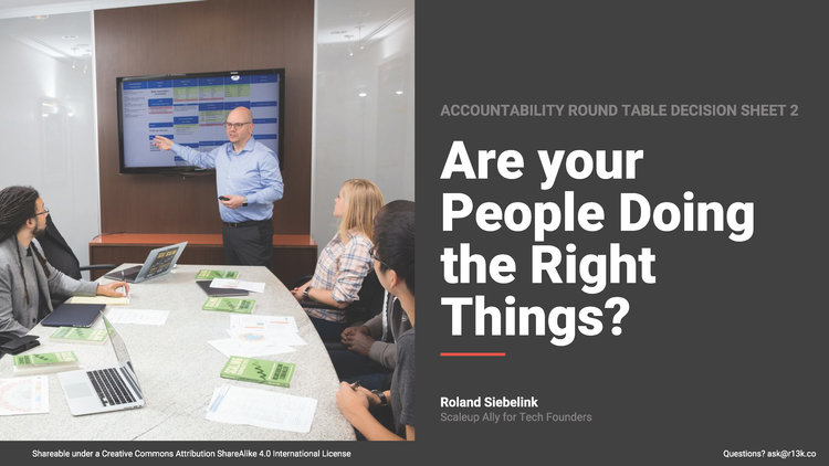 Are your People Doing the Right Things?